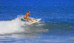 summer surf (bluewavechris) Tags: ocean sea sun sexy water girl fun hawaii surf action surfer board wave maui bikini foam surfboard swell wahine surfergirl mauigirl