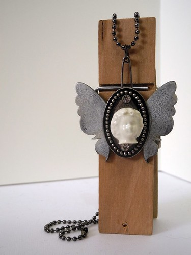 Portrait of a Butterfly pendant