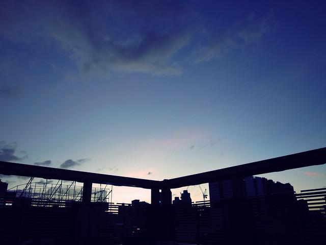 天台的夕陽
