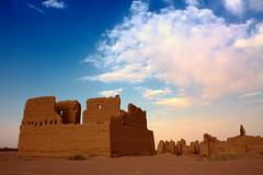 Palace Ghiad |   (  | Ghali Al Mubarak) Tags: blue sky house tourism hail clouds canon photography al kingdom palace clay saudi arabia 1855mm hdr eso  mubarak          50d      ghali   mubark      shammari       ghiad