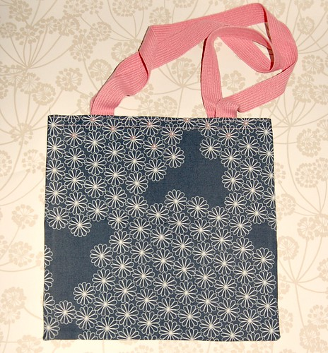 Grey Daisy Pearl Tote Bag by gracefaceboutique