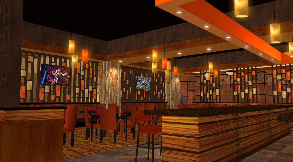 Interior Casino Lounge | Casino Decor Design | Interior Lounge Design | Conceptual Lounge Rendering | 3D Casino Lounge | Sundance Bar & Lounge