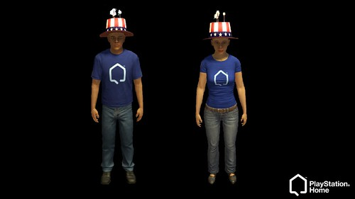Fourth of July in PlayStation Home
