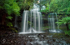 Russell Falls, Tasmania (The Eternity Photography) Tags: longexposure winter white green nature water canon landscape flow evening waterfall nationalpark au wide silk australia wideangle waterfalls tasmania colourful 1022mm silky russellfalls shortwalk santanu 2011 mountfieldnationalpark superwide 40d banik canoneos40d canonefs1022mmf3545usmlens santanubanik        wwwfrozenforeternitycom wwwmomentsofnaturecom tasmaniainjune2011 stunningphotogpin