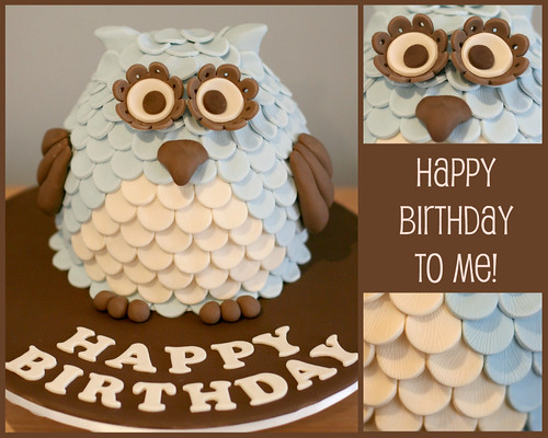 Enjoyable My Owl Birthday Cake A Photo On Flickriver Funny Birthday Cards Online Elaedamsfinfo