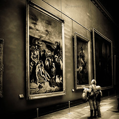 Al museo (in eva vae) Tags: blackandwhite paris art museum sepia louvre squared lightroom preset inevavae