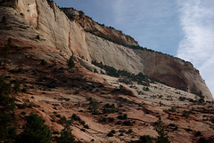 zion canyon walls