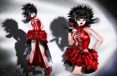 + ex + ezura Xue Twisted Lady Dress *red Set (AZULL Ash) Tags: ex ezura