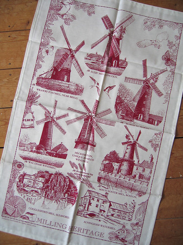 Lincolnshire windmill tea towel