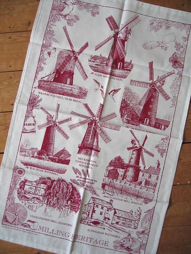 Lincolnshire windmill tea towel