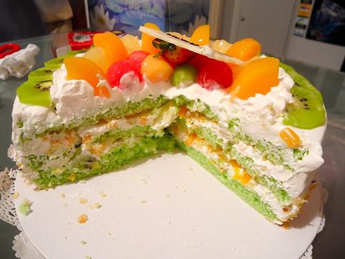 Regent Cakes Pandan Fruit Cake Innards