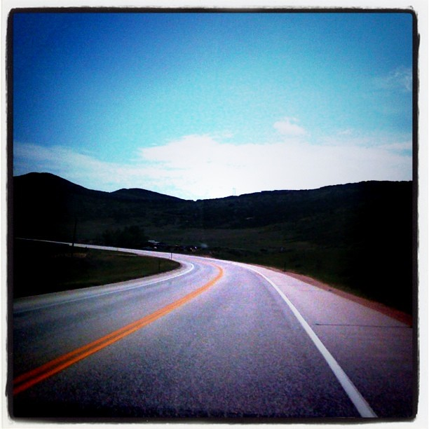 Driving along in CO