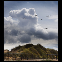 Over the fence, 100 years on. Crosby (more in comments) (Ianmoran1970) Tags: fence airplane sand dune airplanes planes hff ianmoran ianmoran1970 100yearsagotodayhenryflewfromwaterloototrafford henrymelly