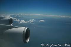 SV MNL-RUH Flight (Ichthys101) Tags: inflight flight engine manila hazy riyadh manilabay sv soar mnl boeing747400 lagunadebay metromanila ruh saudia lipad saudiarabianairlines