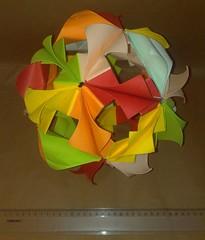 Arabesque kusudama (Aida Verdia) Tags: origami arabesque kusudama