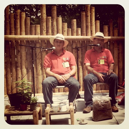 Colombian coffee growers at the Smithsonian Folklife Festival