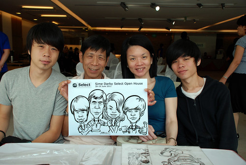 Caricature live sketching for Sime Darby Select Open House Day 2 - 27