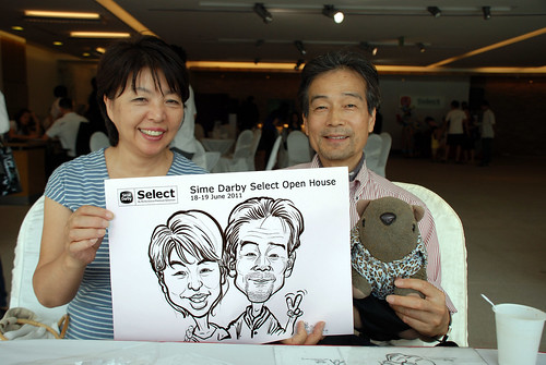 Caricature live sketching for Sime Darby Select Open House Day 2 - 28
