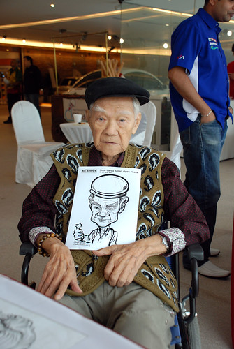 Caricature live sketching for Sime Darby Select Open House Day 2 - 2