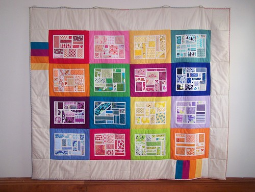 Bottled Rainbows Quilt Hanging