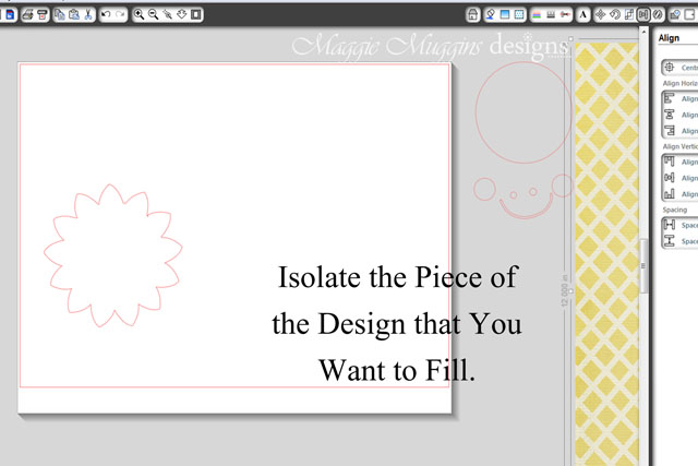 Isolate the Design Piece