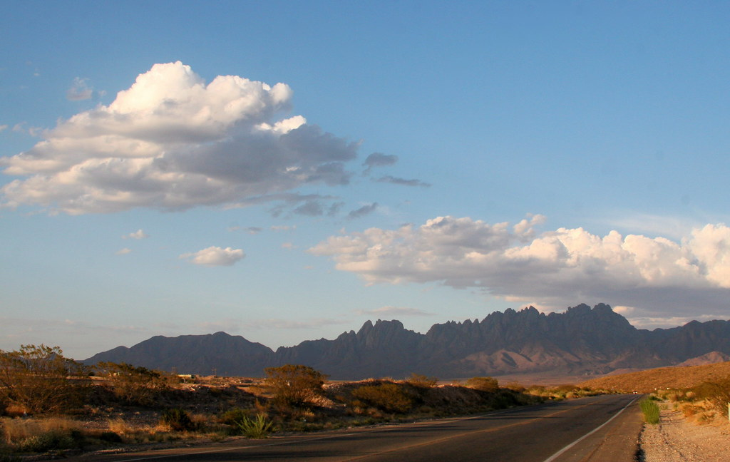 Organ Mountains in Evening