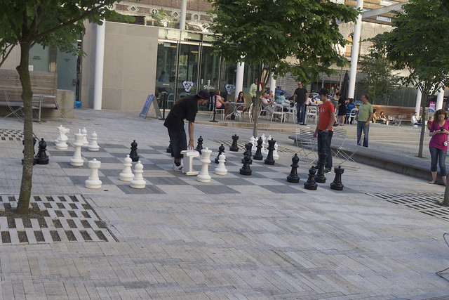 Chess in Director Park
