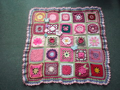Thanks to everyone that has contributed Squares for this Blanket. 'Please add note' if you see your own Square. 'Endless Summer Flowers'.