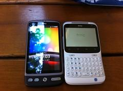 HTC Desire und HTC ChaCha