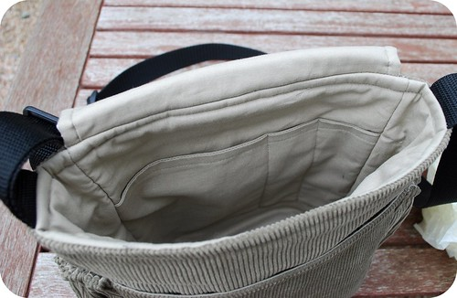 inside messenger bag