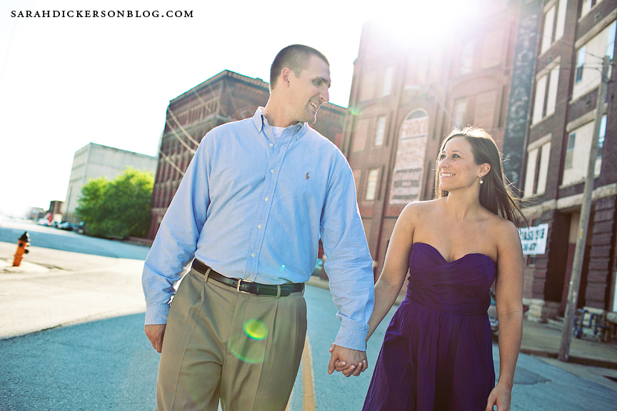 West Bottoms Kansas City engagement photographs