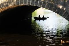 Riga: ducks, boats and arches (Peter Denton) Tags: city bridge green architecture canal duck europe arch wildlife eu latvia boating rowing waterfowl riga waterway freshwater rowingboat rga quackquack pilstaskanls canon60d peterdenton