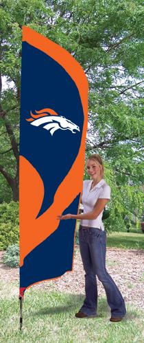 Denver Broncos Tall Feather Flag