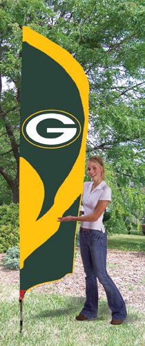 Green Bay Packers Tall Feather Flag