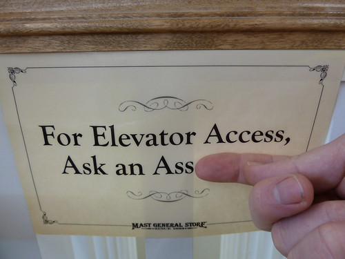 For Elevator Access Ask an Ass