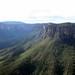 Lá embaixo está a floresta de eucaliptos