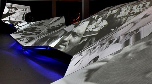 The Wave showing images from the Museum's collection.