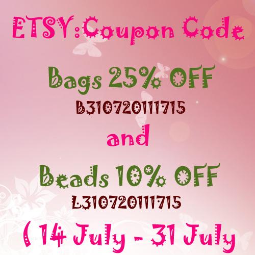 ETSY : Coupon code [July] by Pikalda and Verada