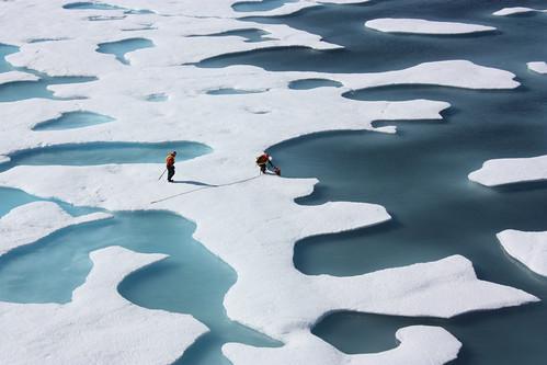フリー写真素材, 自然・風景, 氷河・氷山, 人と風景,