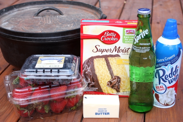 Dutch Oven Cobbler ingredients