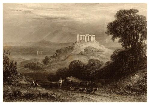 004-Templo de Minerva en Egina-La Grèce pittoresque et historique 1841- Christopher Wordsworth-© Biblioteca de la Universidad de Heidelberg