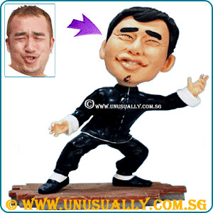 Custom 3D Caricature Kong Fu Bruce Lee Figurine