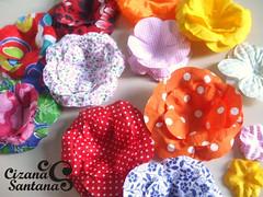forminha para doce em tecido | em fase de teste (Cizana) Tags: flor rosa casamento buffet festa tecido colorido chitão tricoline forminha docinhhos