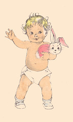 First steps (katinthecupboard) Tags: stuffedtoy bunny babies childrenplayi