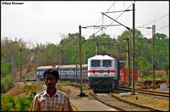 30213 entering Pradhankhunta with a piece of Pie....just a load of 6 coaches!! (Raj Kumar (The Rail Enthusiast)) Tags: new west tree leaves delhi indian express signal railways kolkata bengal raj ecr bokaro sindri kumar howrah bhubaneshwar dhanbad rajdhani sealdah 3013 irfca gzb wap7 pradhankhunta shebabudih