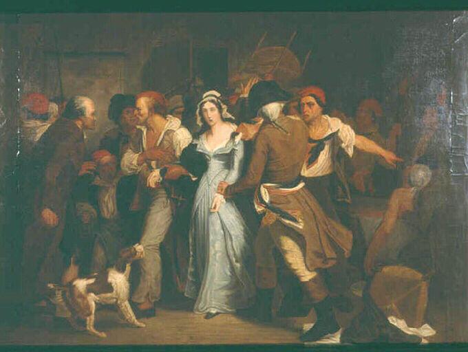 Henri Scheffer, L'arrestation de Charlotte Corday (1830)