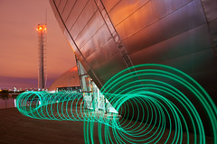 Slinky (Spencer Bowman) Tags: light lightpainting colour scotland glasgow slinky glasgowsciencecentre