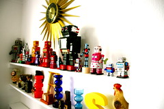 The new flat (jimbotfuzz79) Tags: home glass vintage robot furniture retro shelf vase marimekko showyourhouse