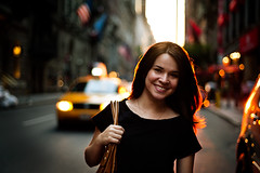 City of Sun. (LeonRodrigues) Tags: street sunset portrait sun ny newyork nikon manhattanhenge d700