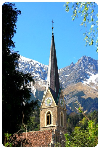Innsbruck church & mountain